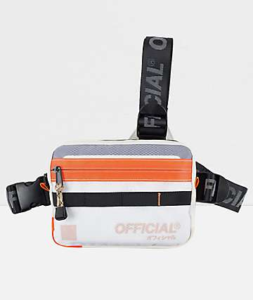 Official Vapour Cloud White & Orange Tri-Strap Bag