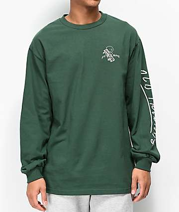 Old Friends Hugger Green Long Sleeve T-Shirt