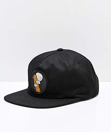 Old Friends Hugger Patch Black Snapback Hat