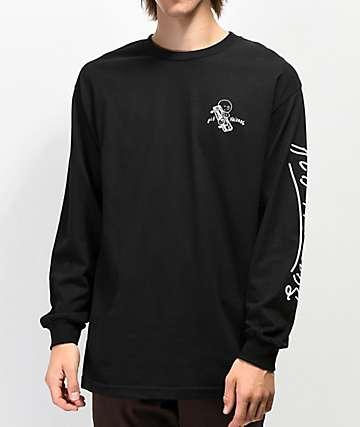 Old Friends Logo Black Long Sleeve T-Shirt