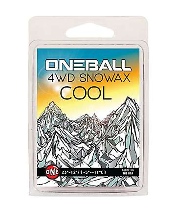 One Ball Jay 4WD Cool Yellow Mini Snowboard Wax