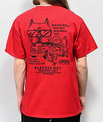 Open925 Blacked Out Red T-Shirt