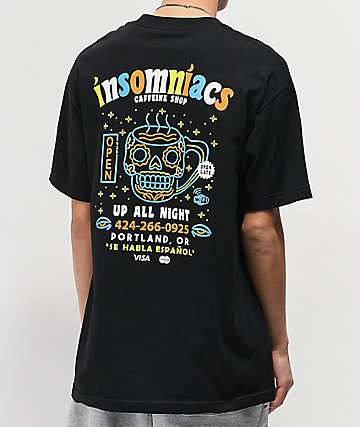 Open925 Insomniacs Black T-Shirt