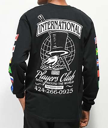 Open925 Players Club Black Long Sleeve T-Shirt