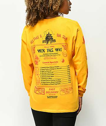Open925 Wok This Way Gold Long Sleeve T-Shirt
