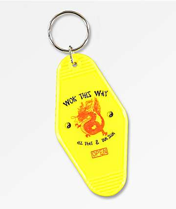 Open925 Wok This Way Yellow Key Chain