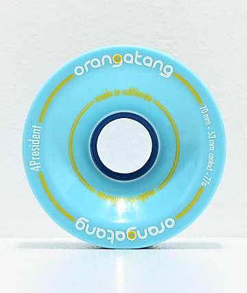 Orangatang 4 President 70mm 77a Blue Longboard Wheels