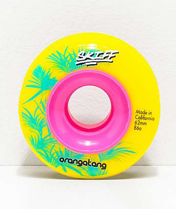 Orangatang Skiff 62mm 86a Yellow Cruiser Wheels