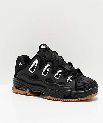 Osiris D3 2001 Black & Gum Skate Shoes
