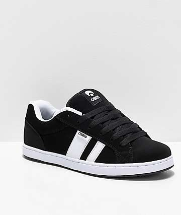 Osiris Loot Black & White Skate Shoes
