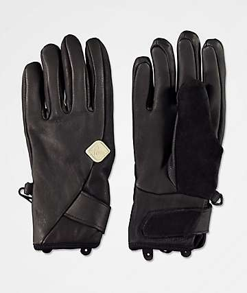 POW Chase Black Snowboard Gloves