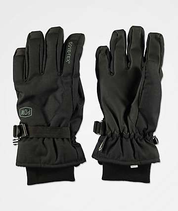 POW Trench Black Snowboard Gloves