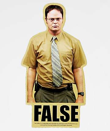 PSD x The Office Dwight False Sticker