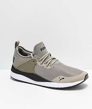 PUMA Pacer Next Cage Elephant Beige, Black & White Shoes