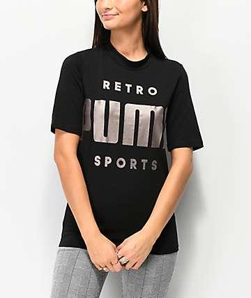 PUMA Retro Black T-Shirt