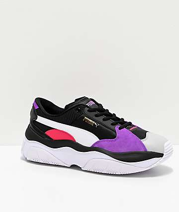 PUMA Stormy Black, Grey & Violet Shoes