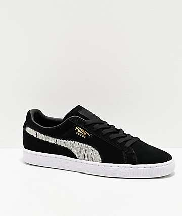 PUMA Suede Classic Ripped Denim Black Shoes