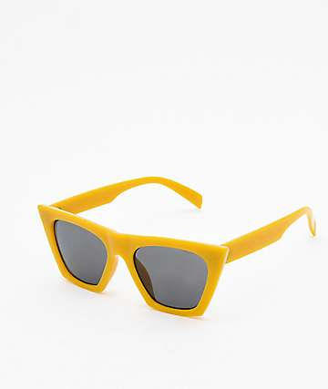 Paloma Square Cateye Yellow Sunglasses