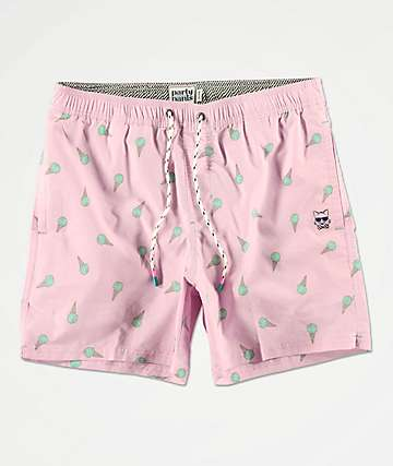 Party Pants Milky Pink Board Shorts