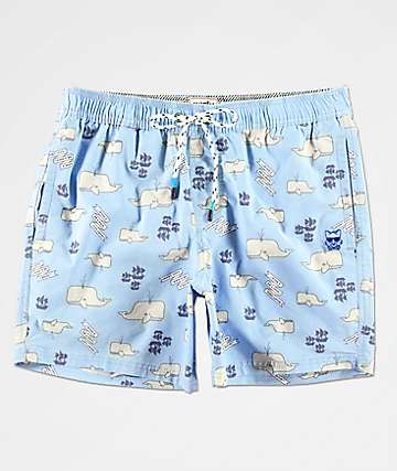 Party Pants Moby Light Blue Board Shorts