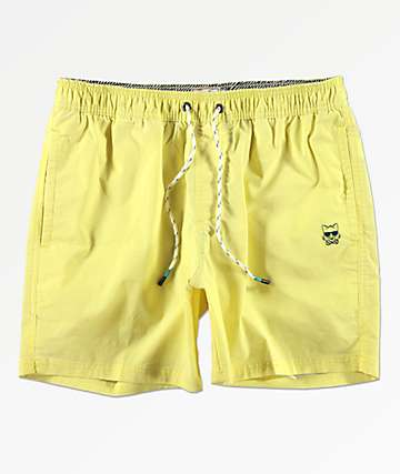 Party Pants Port Neon Yellow Board Shorts