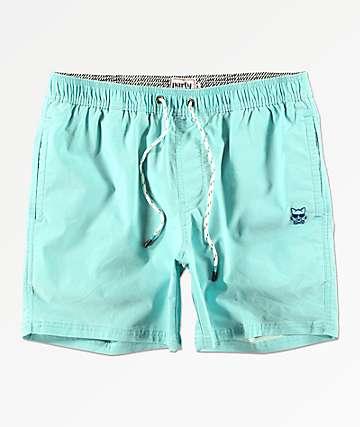 Party Pants Port shorts de baño de color menta