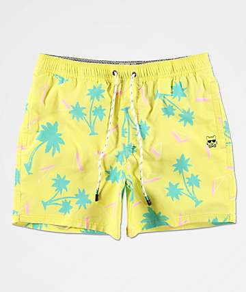 Party Pants Testarossa Yellow Board Shorts