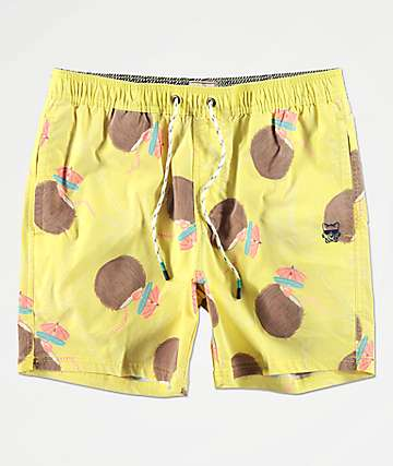 Party Pants Weekender Yellow Board Shorts