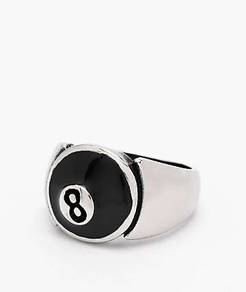 Personal Fears 8 Ball anillo de acero inoxidable