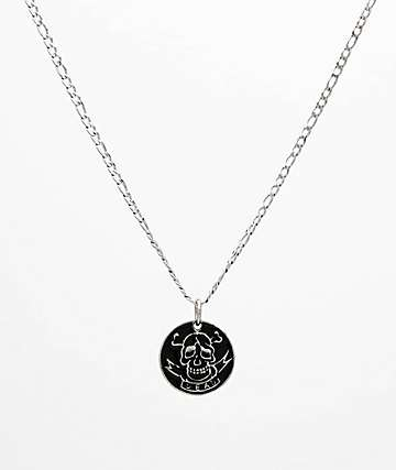 "Personal Fears Death 23"" Stainless Steel Pendant Necklace"
