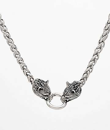 "Personal Fears Wolf 24"" Stainless Steel Chain Necklace"