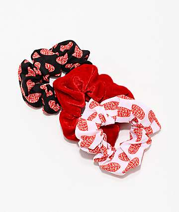 Petals & Peacocks Logo 3 Pack Scrunchies