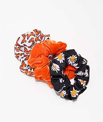 Petals & Peacocks Summer 3 Pack Scrunchies