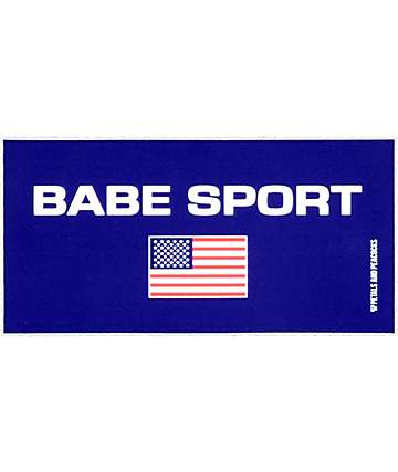 Petals and Peacocks Babe Sport Sticker