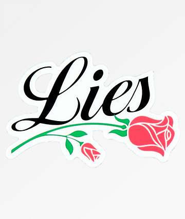 Petals and Peacocks Lies Rose Sticker