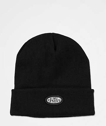 Petals and Peacocks Logo Black Beanie