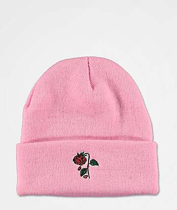 Petals and Peacocks Rose Pink Beanie