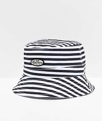 Petals and Peacocks Stripes Bucket Hat