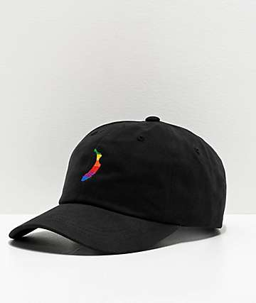Petty Snacks Apples Banana Black Strapback Hat