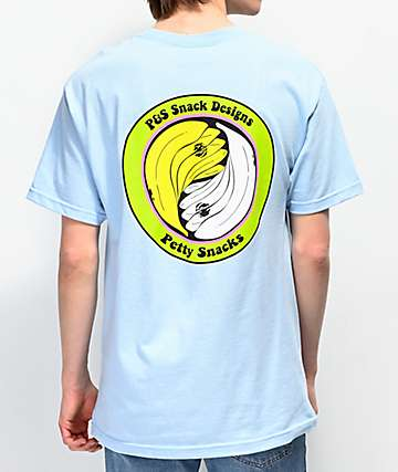 Petty Snacks Wood & Water camiseta azul claro