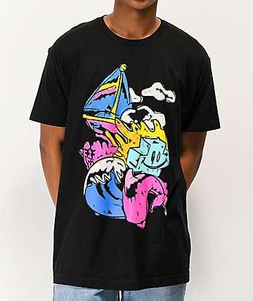 Pink Dolphin Grateful Revive Black T-Shirt