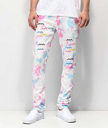 Pink Dolphin Pastel Denim Skinny Jeans