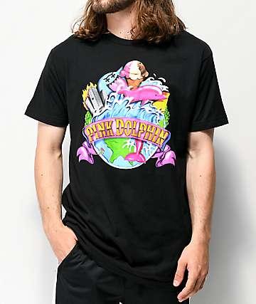 Pink Dolphin Tidal World Black T-Shirt