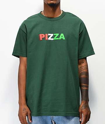 Pizza 3D Logo Green T-Shirt
