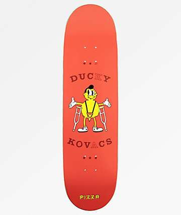 "Pizza Ducky Hipster 8.0"" Skateboard Deck"