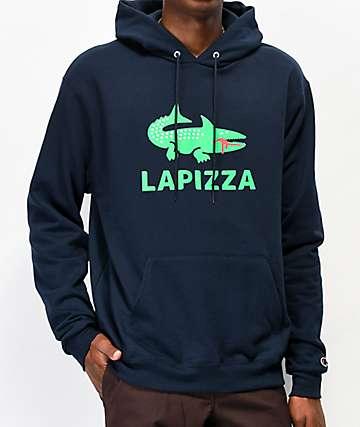 Pizza Lapizza Navy Hoodie