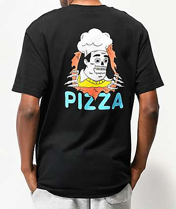 Pizza Terminator Black T-Shirt