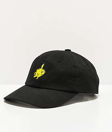 Porous Walker Fishy Black & Yellow Strapback Hat