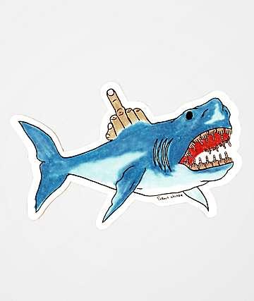 Porous Walker Shark Attack Sticker