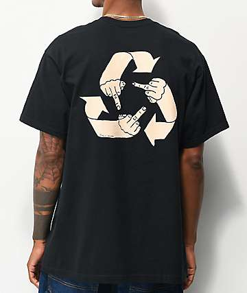 Porous Walker What Goes Around Black T-Shirt